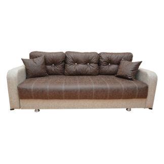 Canapea extensibilă Ultra maro cu negru