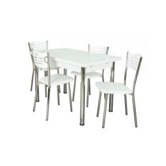 Set masă extensibilă Artemis albă