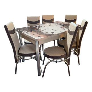 Set masă sticlă extensibilă model 02