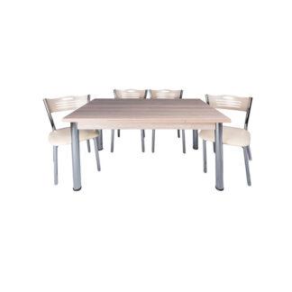 Set masă sticlă Artemis 4 scaune