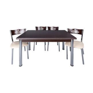 Set masă Artemis wenghe +4 scaune