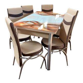 Set masă sticlă extensibilă model 01