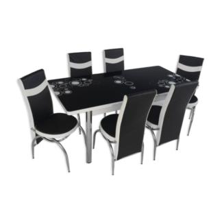 Set masă sticlă extensibilă model 04
