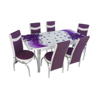 Set masă sticlă extensibilă model 05