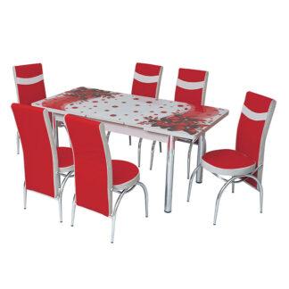 Set masă sticlă extensibilă model 03
