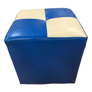 Taburet Cool albastru cu alb