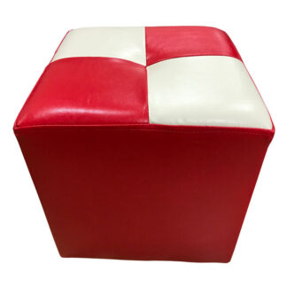 Taburet Cool roșu cu alb