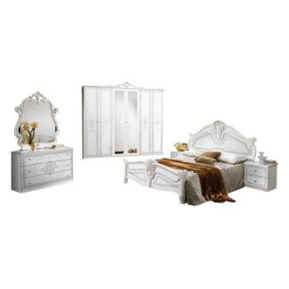 Dormitor Amalfi alb lucios