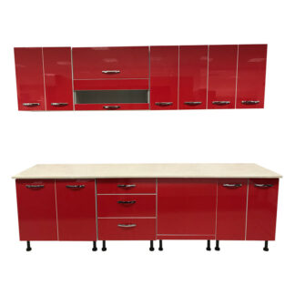 Mobilă bucătărie Love culoare roșie