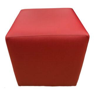 Taburet Cube roșu