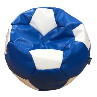 Fotoliu minge albastru cu alb