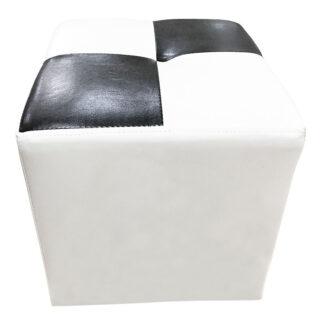 Taburet Cool alb cu negru