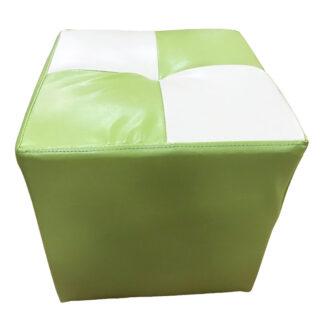 Taburet Cool verde cu alb