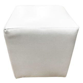 Taburet Cube alb