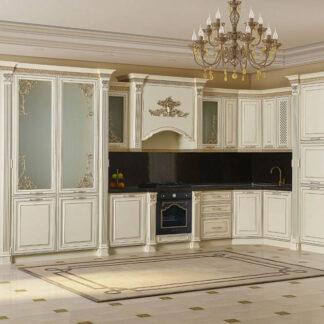 Mobilă bucătărie Veneția bej cu auriu lungime 420cm