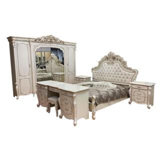 Dormitor Veneția Style bej cu auriu format din 7 piese