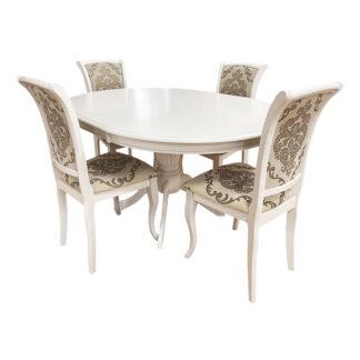 Set masă extensibilă Olivia + 4 scaune Milano culoare ivoire