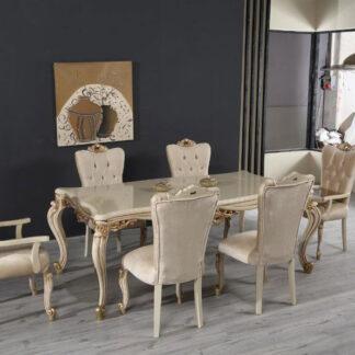 Set masă cu 6 scaune Lux
